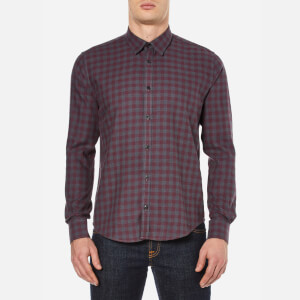 Barbour International Men's Skid Long Sleeve Shirt - Charcoal
