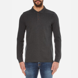 Barbour International Men's International Root Long Sleeve Polo Shirt - Charcoal
