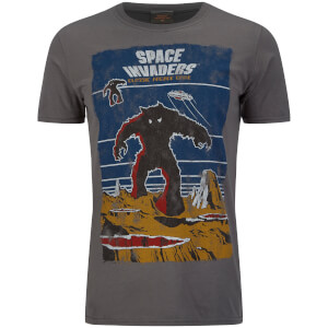 Atari Men's Space Invaders Arcade Graphics T-Shirt - Grey: Image 1