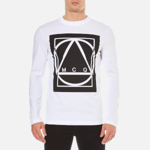 McQ Alexander McQueen Men's Large Logo Long Sleeve T-Shirt - Optic