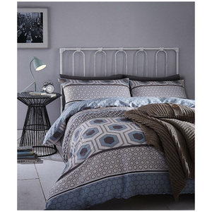Catherine Lansfield Retro Bands Bedding Set - Teal