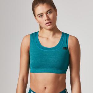Myprotein sømløs sports bh til kvinder – Teal Green