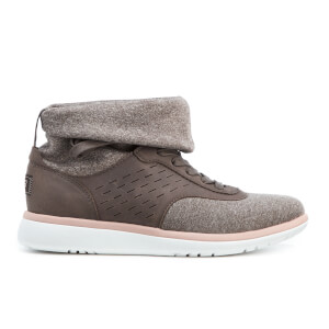 UGG Women's Islay Treadlite Knit Slouchy Collar Hi-Top Trainers - Mole
