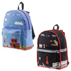 Nintendo Classic Mario Reversible Backpack - Black/Blue