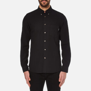PS by Paul Smith Men's Tailored Fit Long Sleeve Shirt - Black
