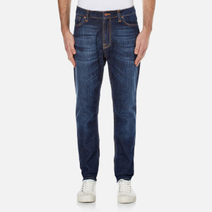 Nudie Jeans Men's Brute Knut Tapered Jeans - Blue Swede