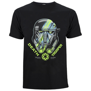 Star Wars: Rogue One Death Trooper Head Heren T-Shirt - Zwart