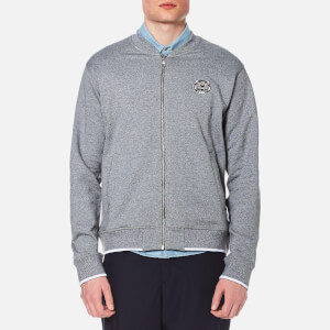KENZO Men's Tiger Zip Sweatshirt Bomber Jacket - Grey