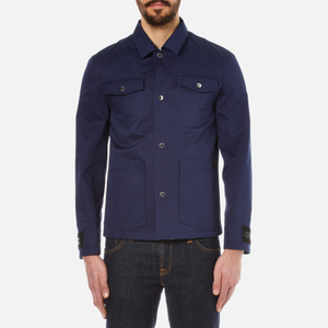 KENZO Men's Gabardine Patch Pocket Jacket - Midnight Blue