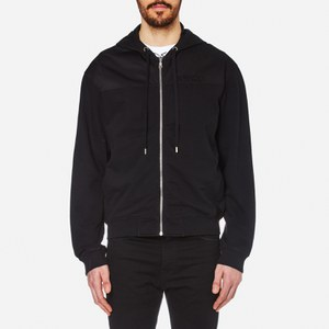KENZO Men's Contrast Panel Logo Hoody - Black