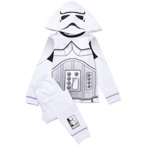 Star Wars Boy's Novelty Hood Pyjamas - White