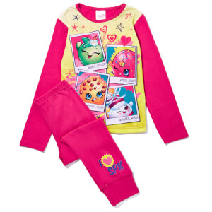 Shopkins Girl's Printed Character Pyjamas - Pink