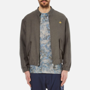 Vivienne Westwood MAN Men's Washed Cotton Bomber Jacket - Grey