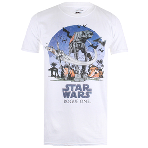 Star Wars Herren Fight Scene T-Shirt - Weiß