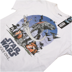 Star Wars Rogue One Men's Fight Scene T-Shirt - White: Image 3