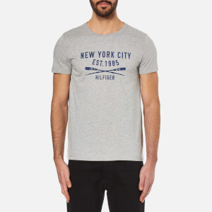 Tommy Hilfiger Men's Harry Printed Crew Neck T-Shirt - Cloud Heather