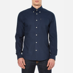 Barbour Men's Stanley Oxford Long Sleeve Shirt - Navy