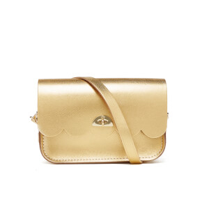 The Cambridge Satchel Company Women's Small Cloud Bag - Gold Saffiano