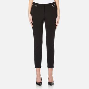 Karl Lagerfeld Women's Cropped Punto Jeans - Black