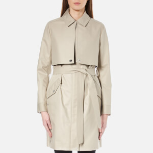 Karl Lagerfeld Women's Ikonik Belted Trench Coat - Cream