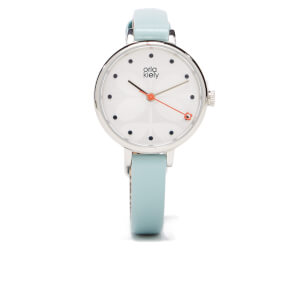 Orla Kiely Women's Ivy Blue Leather Watch - Blue