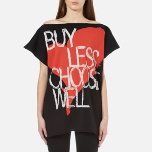 Vivienne Westwood Anglomania Women's Buy Less Choose Well Square T-Shirt - Black