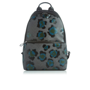 KENZO Men's Leopard Print Backpack - Black Green