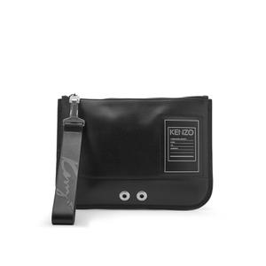 KENZO Men's Leather Zip Pouch Bag - Black