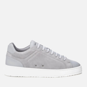 ETQ. Men's Low Top 4 Leather Trainers - Alloy