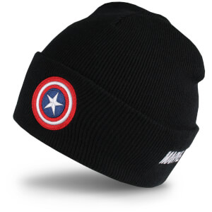 Bonnet Captain America -Noir