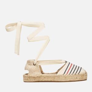 Soludos Women's Gladiator Stripe Espadrille Sandals - Red/Navy/Natural