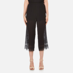 Bec & Bridge Women's Lattice Shadow Pants - Black