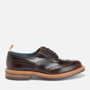 Tricker's Men's Bourton Revival Leather Brogues - Brown Rub Off