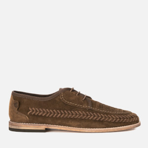 Hudson London Men's Anfa Suede Lace Up Weave Shoes - Tobacco