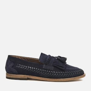 Hudson London Men's Zair Suede Tassle Weave Loafers - Navy