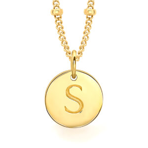 Missoma Women's Initial Charm Necklace - S - Gold