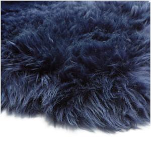 Royal Dream Large Sheepskin Rug   Midnight Blue: Image 6