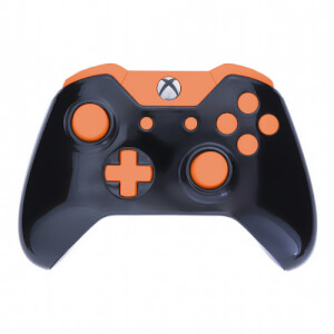 Xbox One Custom Controller - Gloss Black & Orange Edition