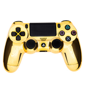 Playstation 4 Custom Controller - Chrome Gold Edition