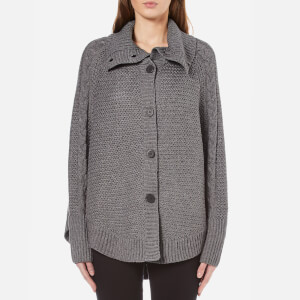 UGG Women's Maribeth Heavyweight Sweater Knitted Cape - Charcoal Heather