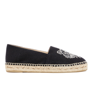 KENZO Women's Canvas Tiger Espadrilles - Black