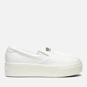 KENZO Women's K Py Patent Platform Slip On Trainers - White