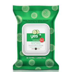 Toallitas faciales hipoalergénicas con pepino de yes to (Pack de 30)