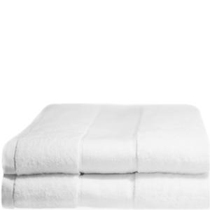 Lot de 2 Draps de Bain 100% Coton Restmor -Blanc