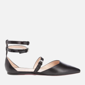 PS by Paul Smith Women's Rosie Leather Pointed Flats - Black