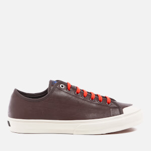 PS by Paul Smith Men's Colston Leather Court Trainers - Dark Grey Washed