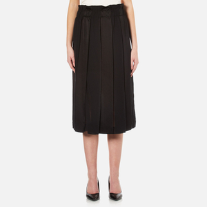DKNY Women's Paneled Skirt with Hidden Drawcord - Black