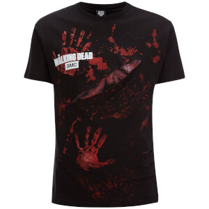T-Shirt Homme Spiral Walking Dead Zombie All Infected -Noir
