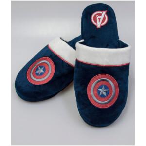 Marvel Men's Captain America Mule Slippers - Navy - UK 8-10