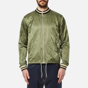 Vivienne Westwood Anglomania Men's Bomber Souvenir Jacket - Green Crunchy